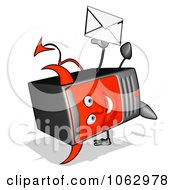 Clipart Devil Computer Tower With Email 1 Royalty Free CGI Illustration