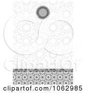 Clipart Gray Ornate Invitation Background Royalty Free Vector Illustration