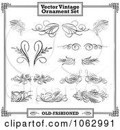 Clipart Vintage Design Elements Digital Collage 2 Royalty Free Vector Illustration