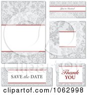 Clipart Gray Victorian Wedding Design Elements Digital Collage Royalty Free Vector Illustration