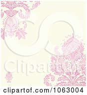 Clipart Floral Pink Victorian Invitation Background Royalty Free Vector Illustration