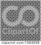 Clipart Seamless Black And White Swirl Background Royalty Free Vector Illustration