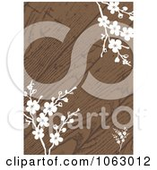 Clipart White Blossoms And Wood Invitation Background Royalty Free Vector Illustration