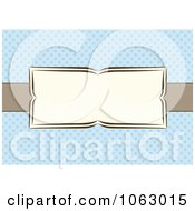 Clipart Bowtie Banner Over Blue Invite Background Royalty Free Vector Illustration