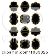 Clipart Blank Labels Digital Collage 6 Royalty Free Vector Illustration