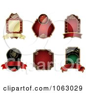 Clipart Blank Labels Digital Collage 10 Royalty Free Vector Illustration