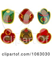 Clipart Blank Labels Digital Collage 12 Royalty Free Vector Illustration