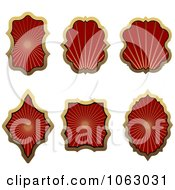 Clipart Blank Red Labels Digital Collage 3 Royalty Free Vector Illustration