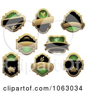 Clipart Blank Green Labels Digital Collage 8 Royalty Free Vector Illustration