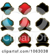 Clipart Blank Labels Digital Collage 9 Royalty Free Vector Illustration