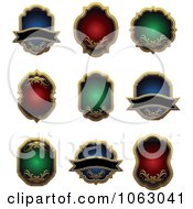 Clipart Blank Labels Digital Collage 5 Royalty Free Vector Illustration