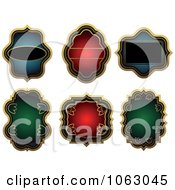 Clipart Blank Labels Digital Collage 8 Royalty Free Vector Illustration