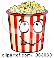 Clipart Hungry Popcorn Container Royalty Free Vector Illustration by Vector Tradition SM