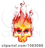 Clipart Fiery Skull 3 Royalty Free Vector Illustration
