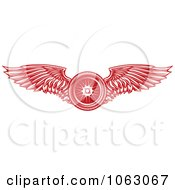 Clipart Red Winged Tire Royalty Free Vector Illustration by Vector Tradition SM