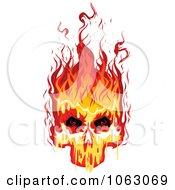 Clipart Fiery Skull 2 Royalty Free Vector Illustration