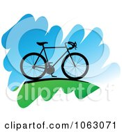 Clipart Bicycle On A Hill Royalty Free Vector Illustration by Seamartini Graphics