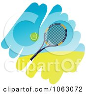 Clipart Tennis Racket And Ball Royalty Free Vector Illustration