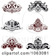 Clipart Flourishes Digital Collage 4 Royalty Free Vector Illustration