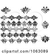 Clipart Flourishes Digital Collage 14 Royalty Free Vector Illustration