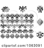 Clipart Flourishes Digital Collage 16 Royalty Free Vector Illustration