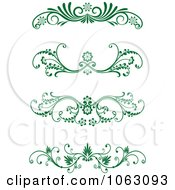 Clipart Green Flourish Borders Digital Collage 17 Royalty Free Vector Illustration