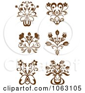 Clipart Flourishes Digital Collage 3 Royalty Free Vector Illustration