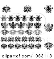 Clipart Flourishes Digital Collage 19 Royalty Free Vector Illustration