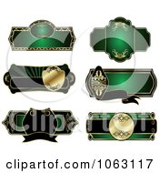Clipart Blank Green Labels Digital Collage 11 Royalty Free Vector Illustration
