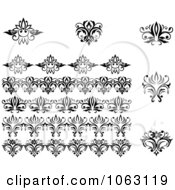 Clipart Flourishes Digital Collage 24 Royalty Free Vector Illustration