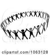 Clipart Black And White People Unified Royalty Free Vector Illustration