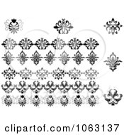 Clipart Flourishes Digital Collage 6 Royalty Free Vector Illustration