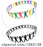 Clipart People Unified Digital Collage Royalty Free Vector Illustration