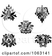Clipart Black And White Flourishes Digital Collage 9 Royalty Free Vector Illustration