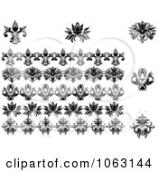 Clipart Flourishes Digital Collage 5 Royalty Free Vector Illustration