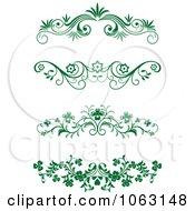 Clipart Green Flourish Borders Digital Collage 18 Royalty Free Vector Illustration