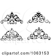 Clipart Black And White Flourishes Digital Collage 6 Royalty Free Vector Illustration