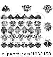 Clipart Flourishes Digital Collage 23 Royalty Free Vector Illustration