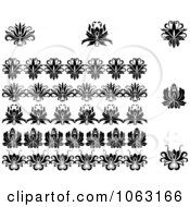 Clipart Flourishes Digital Collage 21 Royalty Free Vector Illustration
