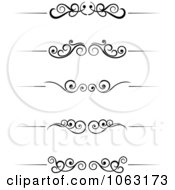 Clipart Black And White Flourish Borders Digital Collage 6 Royalty Free Vector Illustration