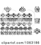 Clipart Flourishes Digital Collage 2 Royalty Free Vector Illustration