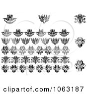 Clipart Flourishes Digital Collage 9 Royalty Free Vector Illustration