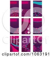 Clipart Abstract Business Card Backgrounds Digital Collage 5 Royalty Free Vector Illustration by Vector Tradition SM