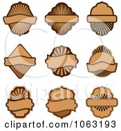 Clipart Blank Labels Digital Collage 11 Royalty Free Vector Illustration