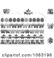 Clipart Flourishes Digital Collage 12 Royalty Free Vector Illustration
