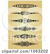 Clipart Vintage Flourish Borders Digital Collage 1 Royalty Free Vector Illustration