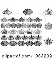 Clipart Flourishes Digital Collage 13 Royalty Free Vector Illustration