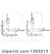 Clipart Floral Corner Elements Digital Collage 7 Royalty Free Vector Illustration
