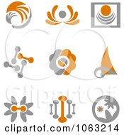 Clipart Abstract Design Element Logos Digital Collage 12 Royalty Free Vector Illustration