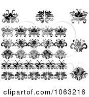 Clipart Flourishes Digital Collage 20 Royalty Free Vector Illustration